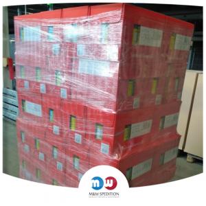 Transport von Waren auf Paletten bis 24 Tonnen.