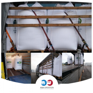 Transport von Waren: Granulat bis 24 Tonnen.