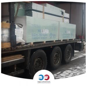 Transport von Waren: Glas auf Paletten bis 24 Tonnen. M&W Spedition