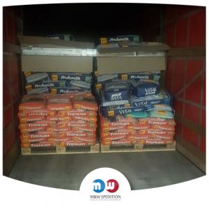 Transport von Waren: Lebensmittel auf Paletten bis 24 Tonnen. M&W Spedition