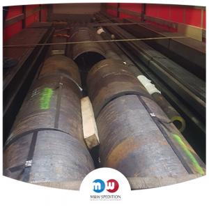 Transport von Waren: Baumaterialien, Rohren bis 24 Tonnen. M&W Spedition