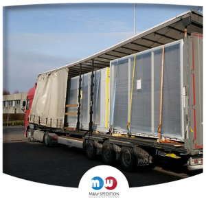 Transport von Waren: Fenster, Glas bis 24 Tonnen. M&W Spedition