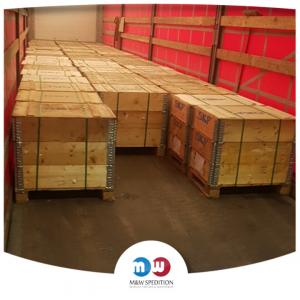 Transport von Waren: Baumaterialien, Lebensmittel, Textilien, Stahl- und Metall, Papier- und Papierverpackungen, Kunststoff, Maschinen bis 24 Tonnen.