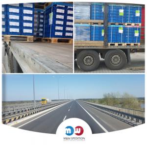 Transport von Waren: auf Paletten bis 24 Tonnen. M&W Spedition